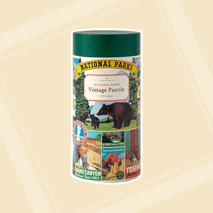 gifts for men Vintage National Parks Puzzle