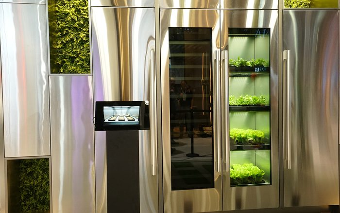 Indoor Garden with LG's New Herb Growing Fridge