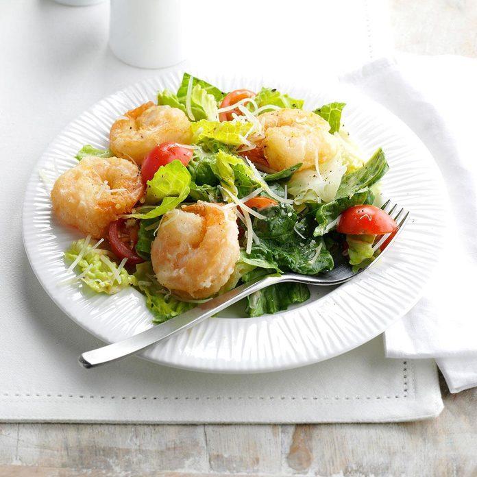 Air-Fryer Shrimp Caesar Salad