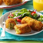 Air-Fryer Breakfast Croquettes with Egg & Asparagus
