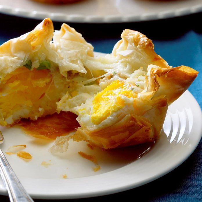 Air-Fryer Ham & Cheese Breakfast Bundles