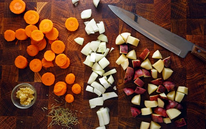 Vegetables for Dutch Oven Chicken Thighs