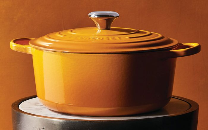Le Creuset Dutch oven in nectar color
