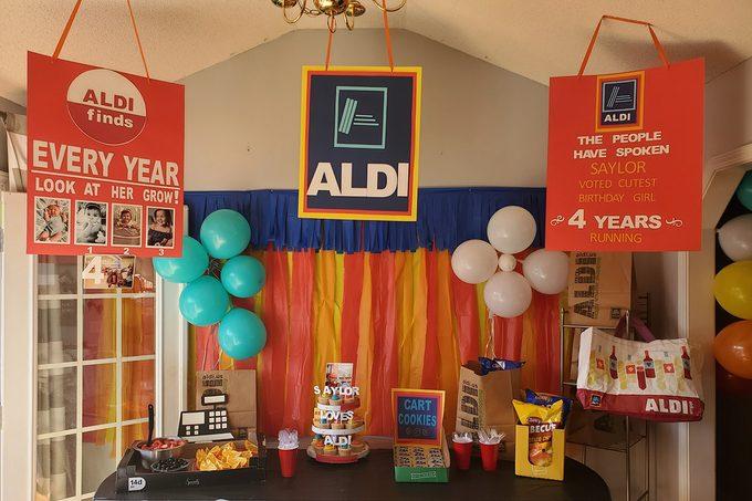 aldi themed birthday party