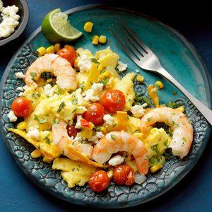 Shrimp and Tomato Migas