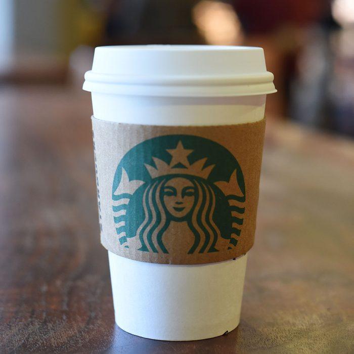 Starbucks beverage with EarthSleeve hot cup sleeve