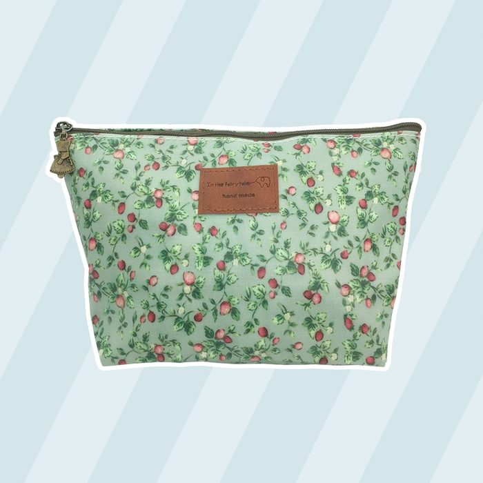 HUNGER Green Flowers Make-Up Cosmetic Bag Carry Case, 14 Patterns