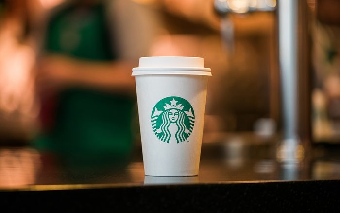 Starbucks cup photographed on Friday, March 16, 2018. (Joshua Trujillo, Starbucks)