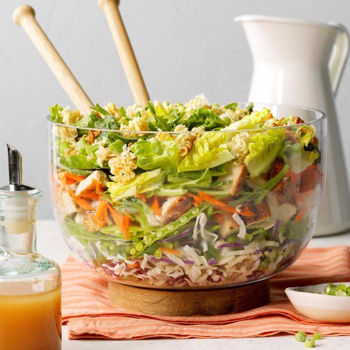 Grilled Chicken Ramen Salad