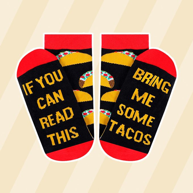 Moyel Taco Food Socks For Women, If You Can Read This Socks, Taco Gifts
