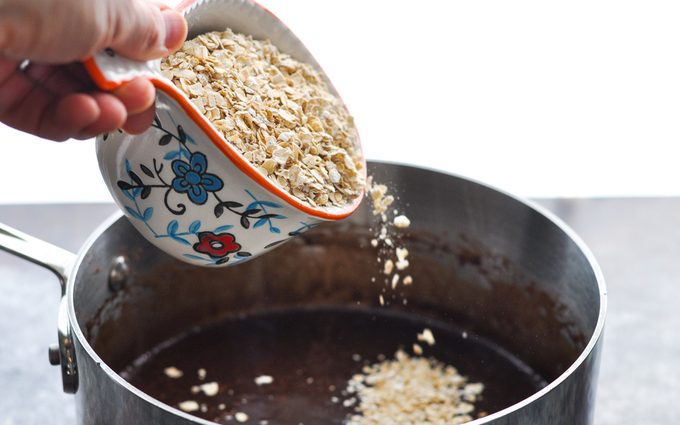 Adding oatmeal into the mix
