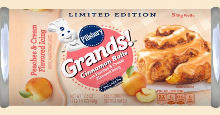 Pillsbury's New Peaches & Cream Cinnamon Rolls