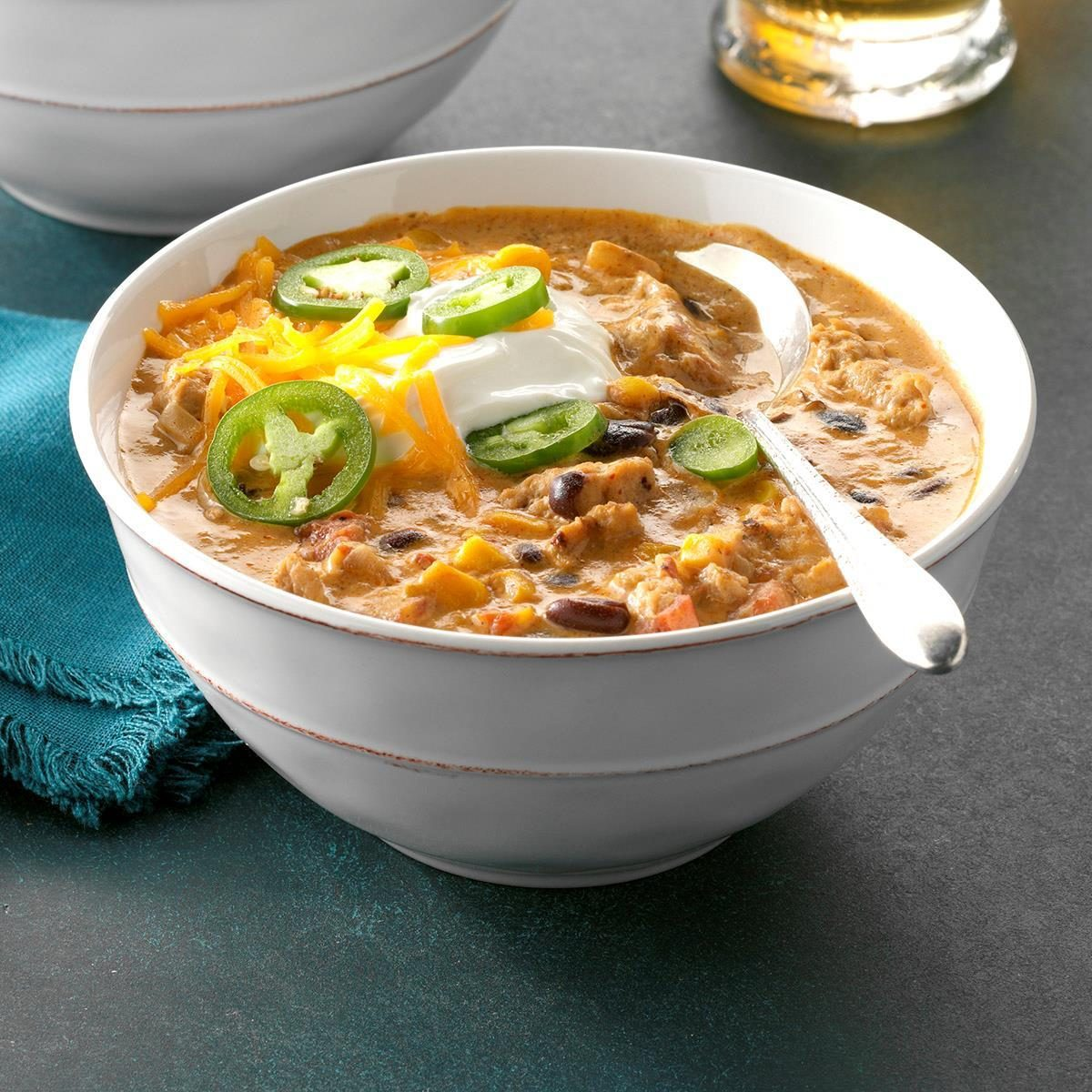 Pressure-Cooker Jalapeno Popper Chicken Chili
