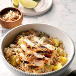 Tropical Chicken Cauliflower Rice Bowls