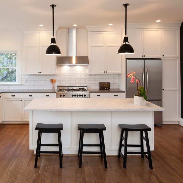 Beautiful, new kitchen in luxury home.