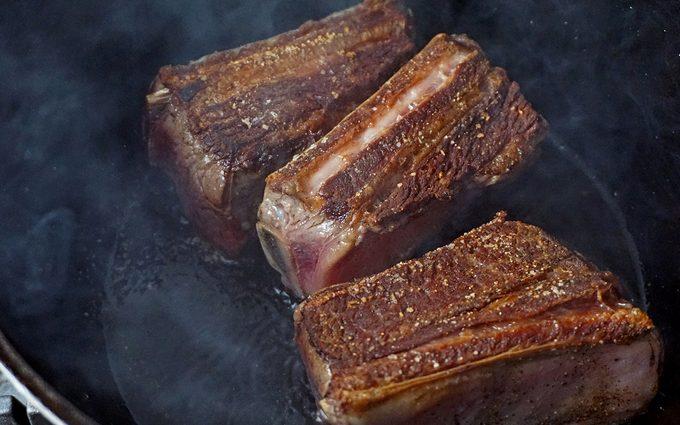 searing Dutch oven short ribs