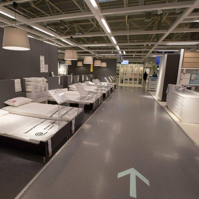 Ikea store short cuts mattresses