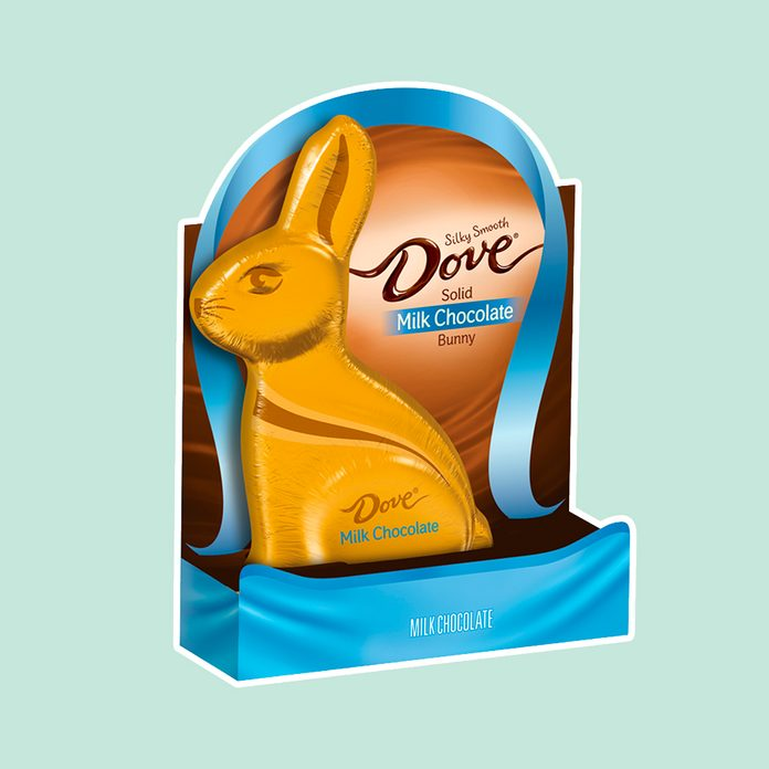 best easter candy DOVE Solid Milk Chocolate Bunny