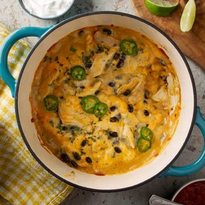 Dutch Oven Enchiladas