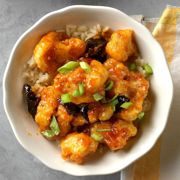 Air-Fryer General Tso's Cauliflower