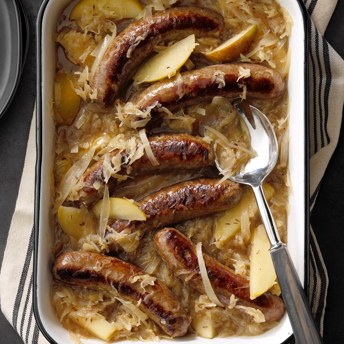 Day 1: Slow-Cooker German Bratwurst