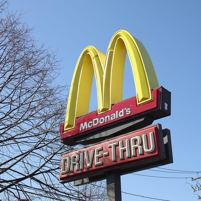 PLAINVIEW, NEW YORK - MARCH 18: An image of the sign for a McDonald's as photographed on March 18, 2020 in Plainview, New York. (Photo by Bruce Bennett/Getty Images)