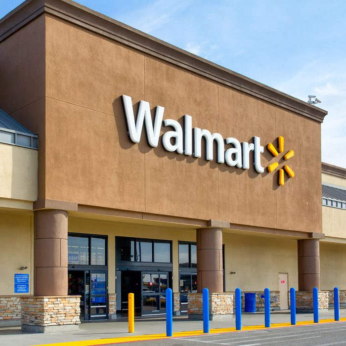 Salinas, United States - April 8, 2014: Walmart store exterior. Walmart is an American multinational corporation that runs large discount stores and is the world's largest public corporation.