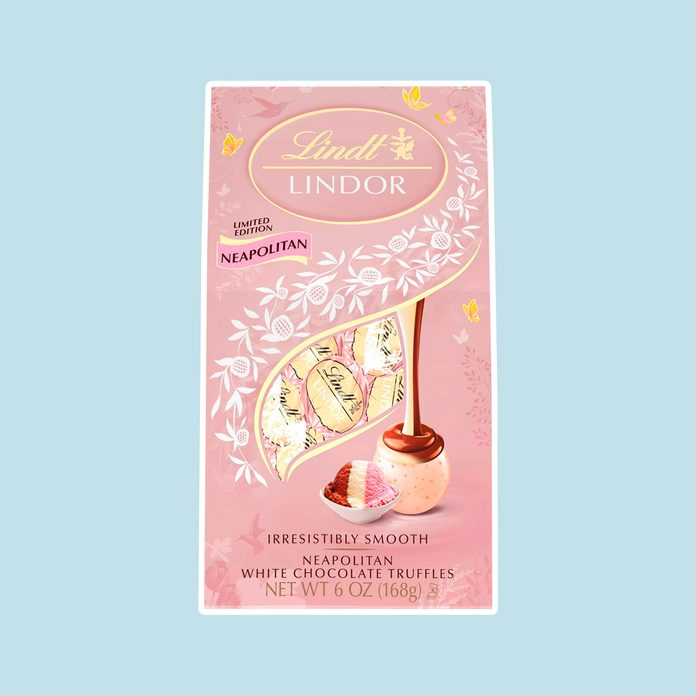 best easter candy LINDOR Easter Spring Neapolitan White Chocolate Truffles Bag