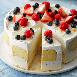 Coconut-Lemon Ice Cream Cake