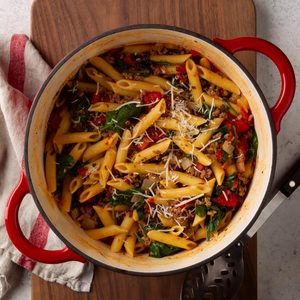 Dutch Oven Pasta Bake