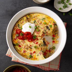 Pressure-Cooker Cheesy Egg Casserole