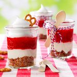 Strawberry Pretzel Dessert Jars