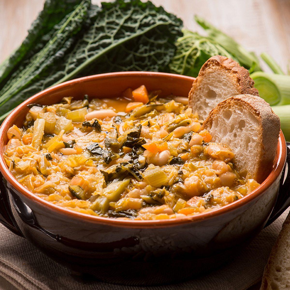 ribollita traditional tuscany soup, selective focus; Shutterstock ID 674730508; Job (TFH, TOH, RD, BNB, CWM, CM): TOH