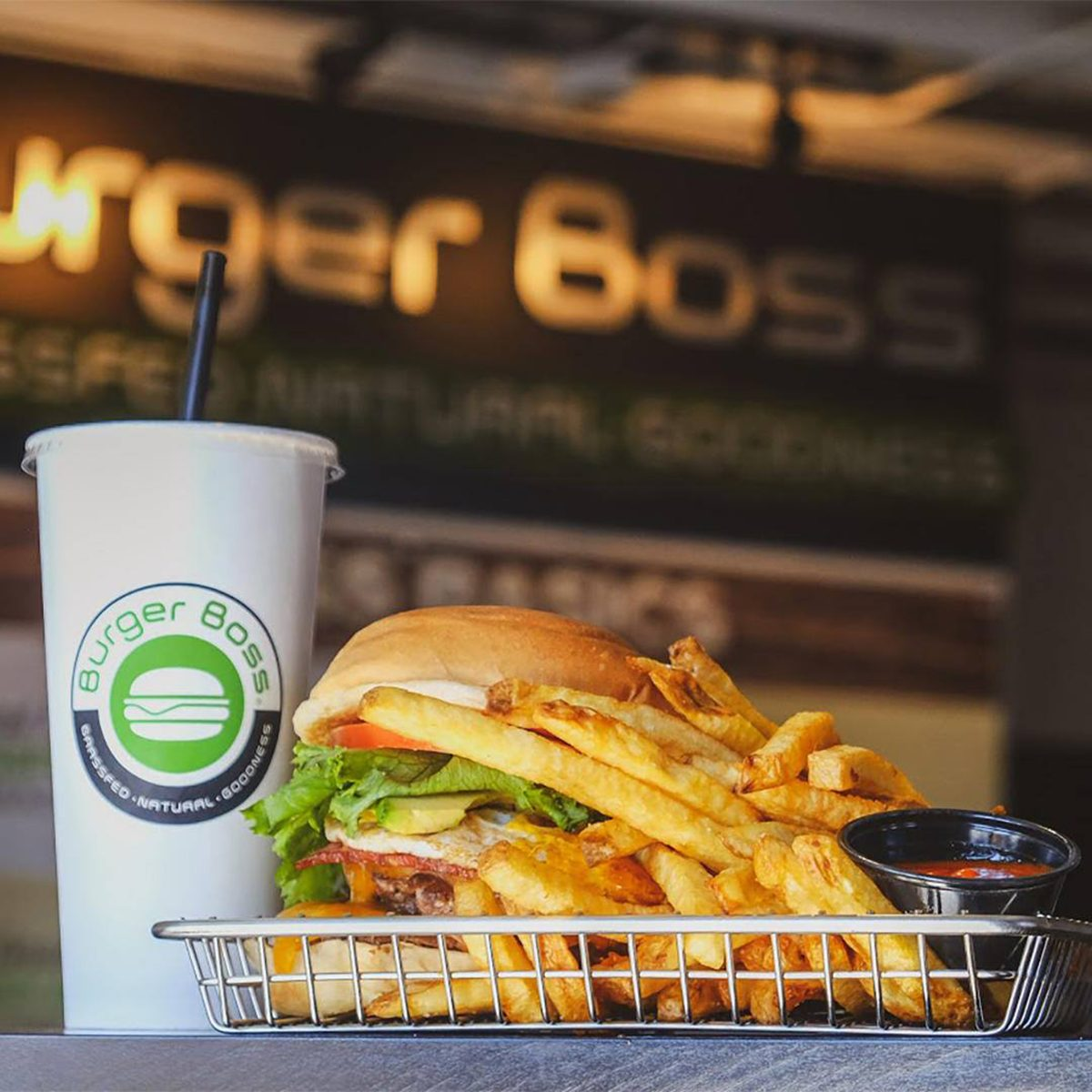 32oz drink + a side of fresh cut fries = Bossed Bundle