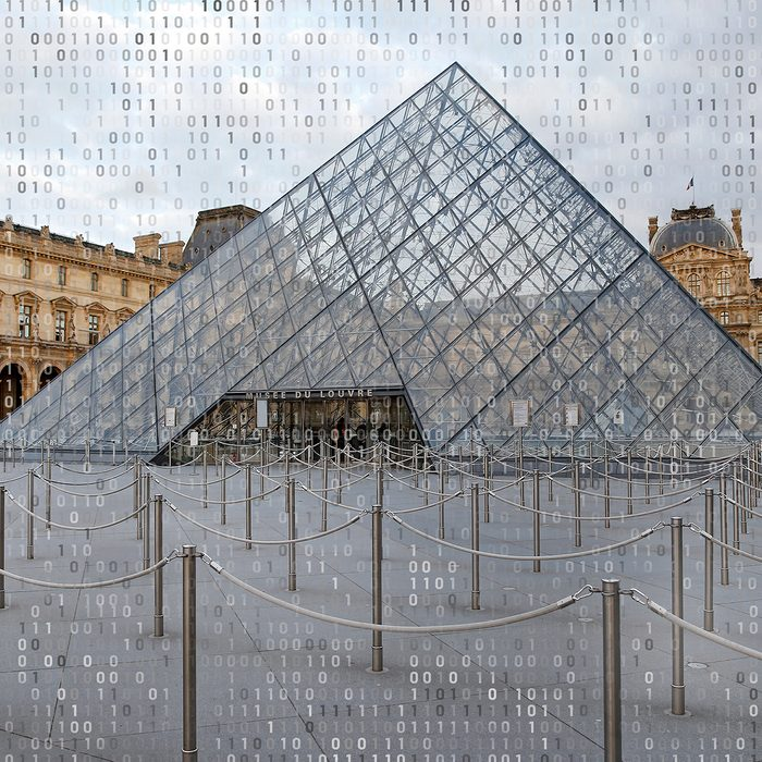 PARIS, FRANCE - MARCH 13: Empty queue lines are seen in front of the Louvre pyramid and the Louvre museum on March 13, 2020 in Paris, France. In accordance with directives issued by French governement, the Louvre museum will close this Friday, March 13, 2020 and will remain closed until further notice. Due to a sharp increase in the number of cases of coronavirus (COVID-19) declared in Paris and throughout France, several sporting, cultural and festive events have been postponed or cancelled. The epidemic has exceeded 5,000 dead for more than 137,000 infections across the world. (Photo by Chesnot/Getty Images)