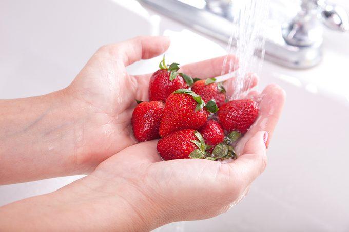Woman Washing Strawberries - XXXL