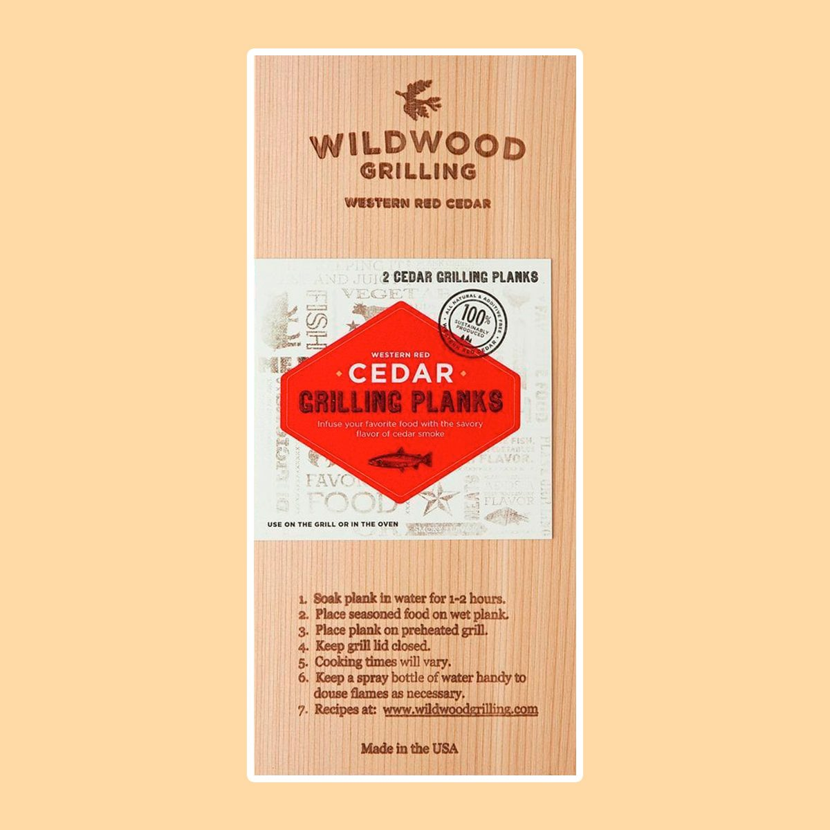 Cedar Grilling Planks (2-Pack) Grilling Accessory