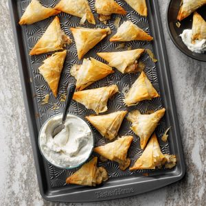 Chicken Bacon Triangles
