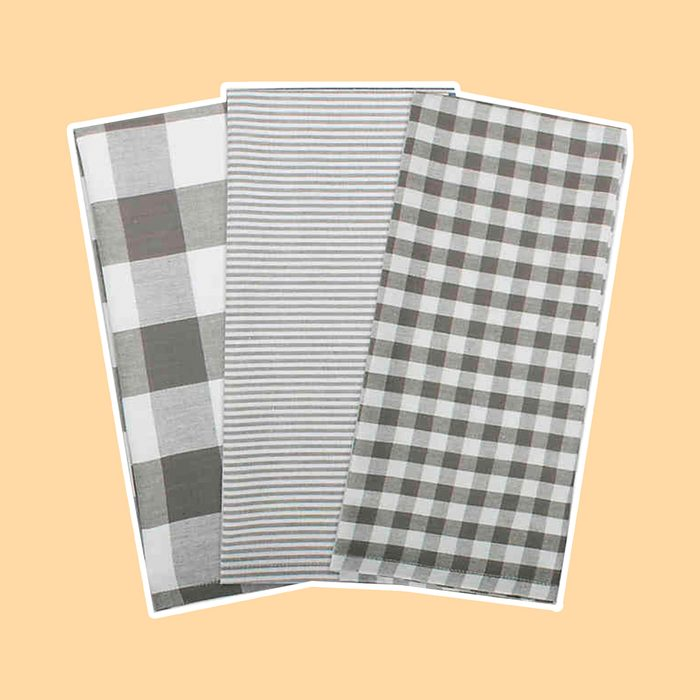 DII Gingham Check Kitchen Towels Grilling Accessory