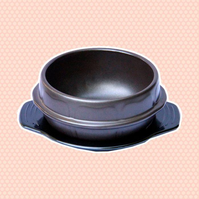 Crazy Korean Cooking Stone Bowl (Dolsot), Sizzling Hot Pot for Bibimbap and Soup Premium Ceramic No Lid, Medium