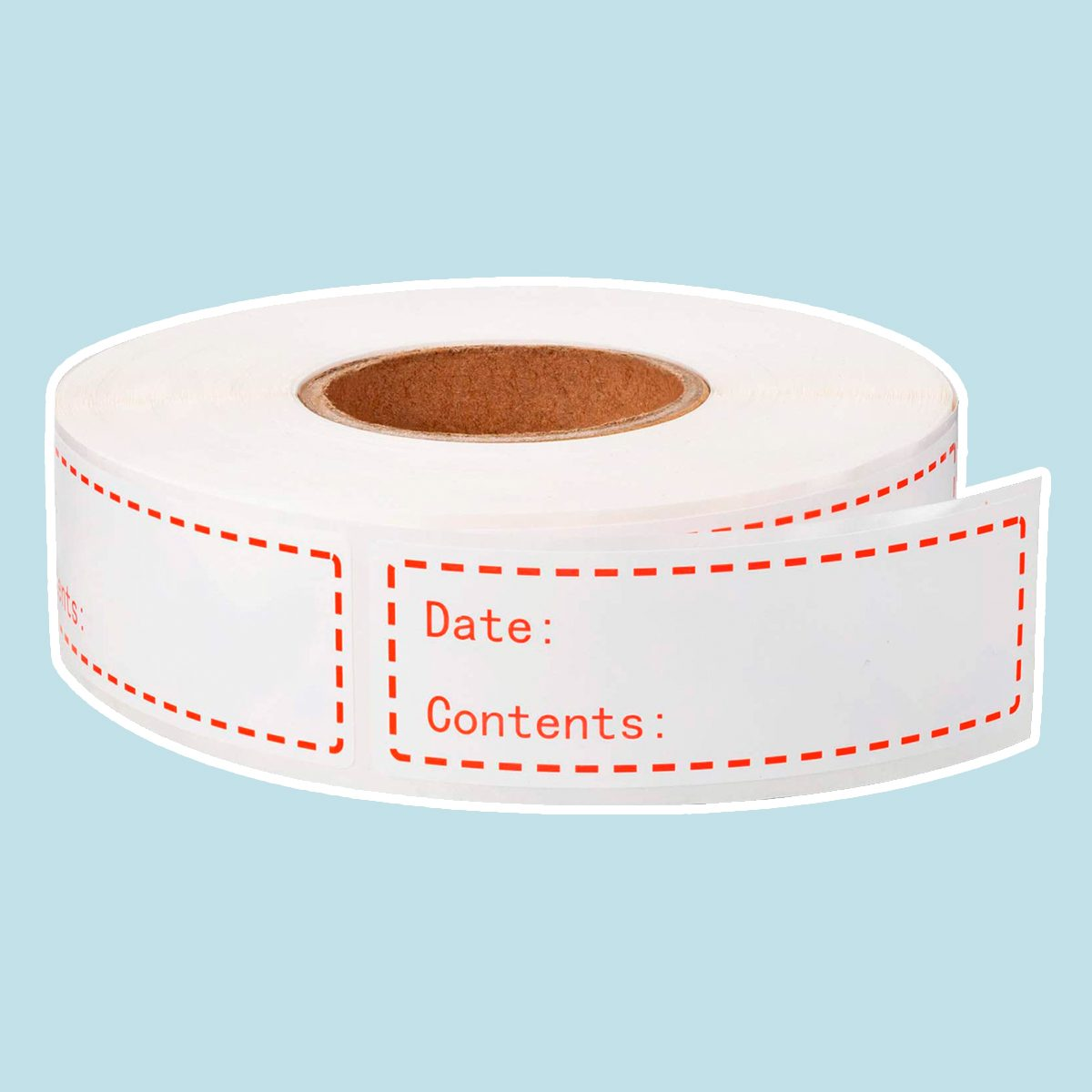 500 Pieces Food Freezer Labels 1 x 3 inches Self-Adhesive Removable Storage Refrigerator Food Date Labels