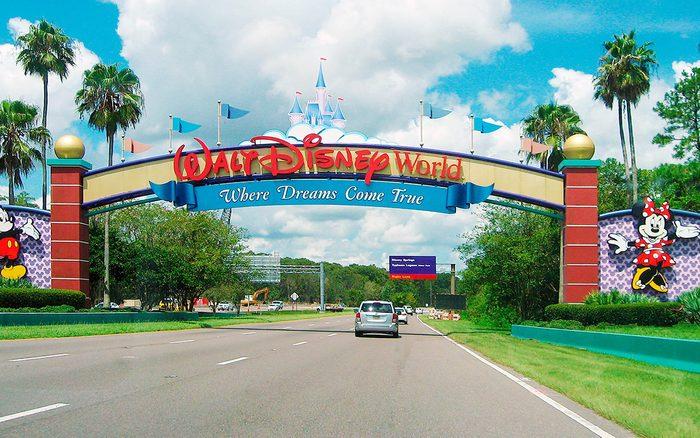 The entryway into Disneyland
