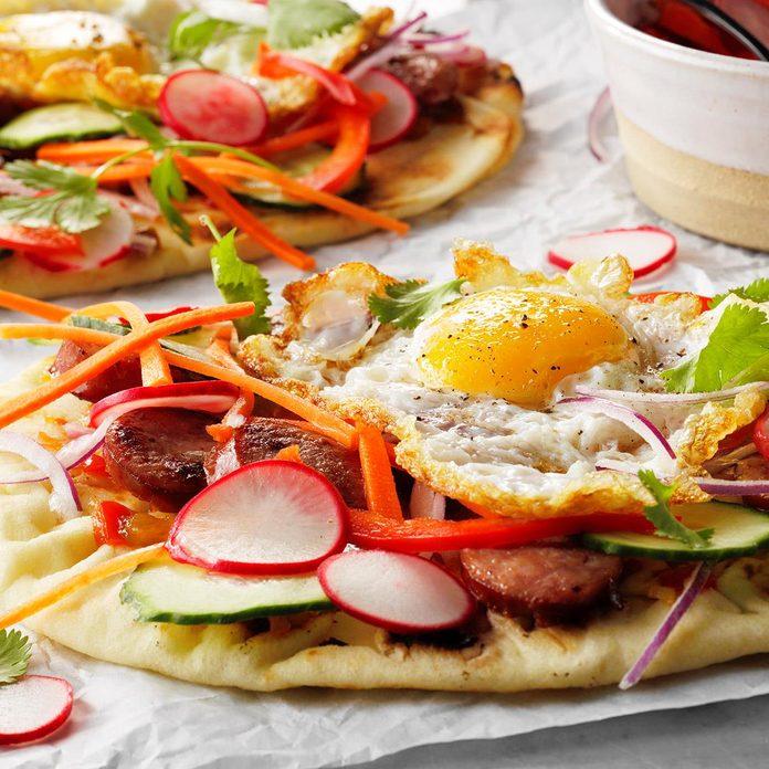 Open-Faced Breakfast Banh Mi