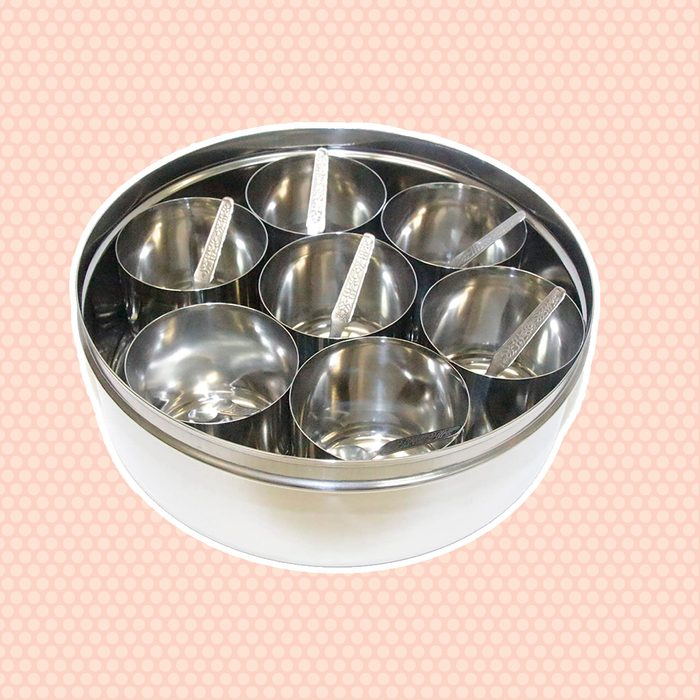 Tabakh Stainless Steel Masala Dabba/Spice Container Box