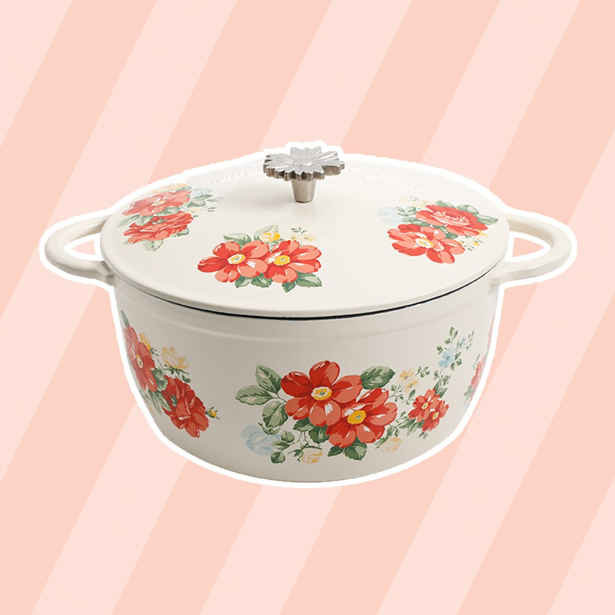 The Pioneer Woman Vintage Floral 5-Quart Dutch Oven