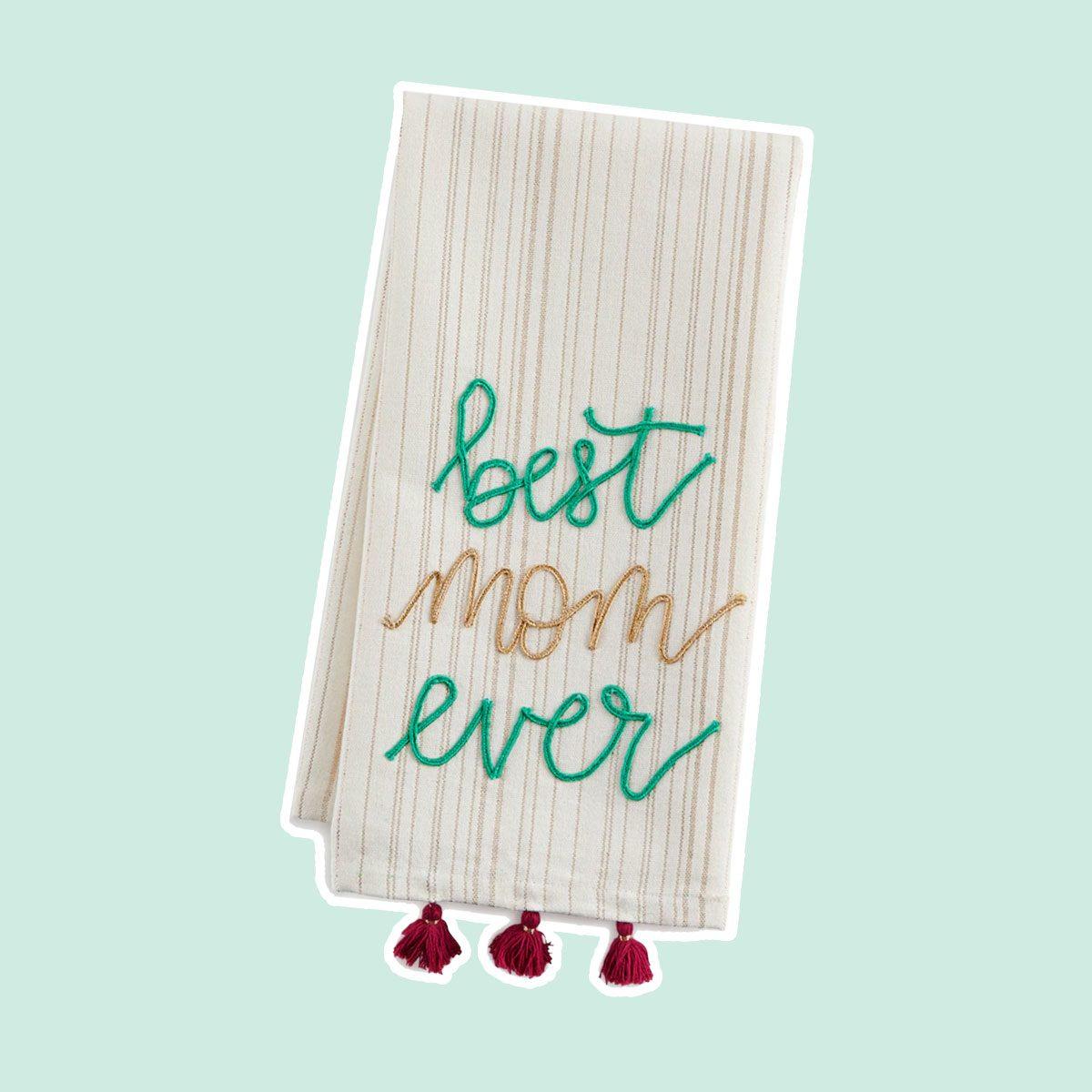 """Paper Source """"Best Mom Ever"""" Tea Towel"""