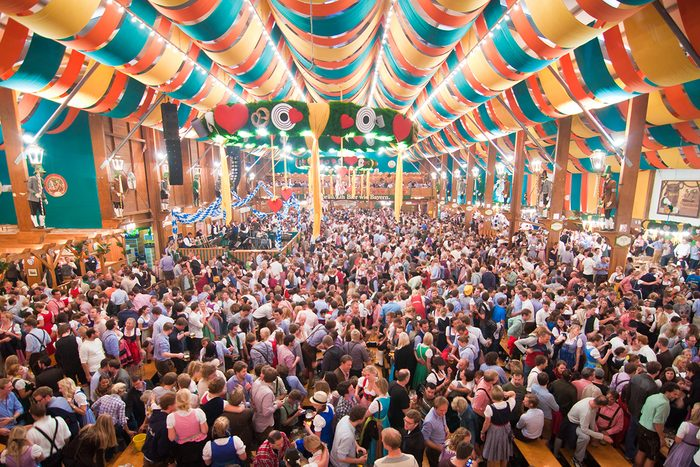 Millions of visitors during weeks of Oktoberfest.