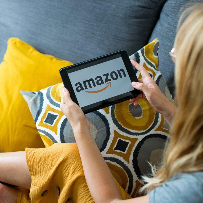 Person browsing Amazon