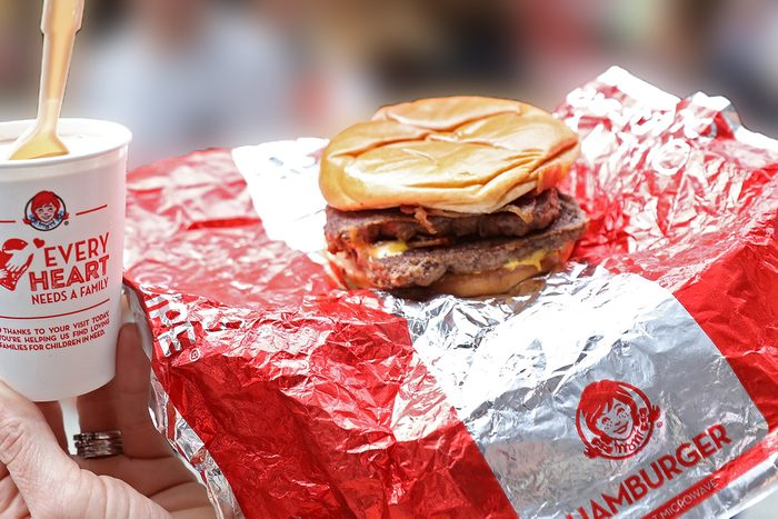 CHICAGO, IL - SEPTEMBER 01: Wendys gave fans the ultimate fresh beef and bacon experience at Chicagos Daley Plaza Farmers Market with a 15-foot-tall Baconator dome September 1, 2016 in Chicago, Illinois. Serving up fresh-made Baconators, the Dome offered lounge chairs and a 180-degree bite cam to capture snaps of fans beefy, bacon-y euphoria. (Photo by Jeff Schear/Getty Images for Wendy's)