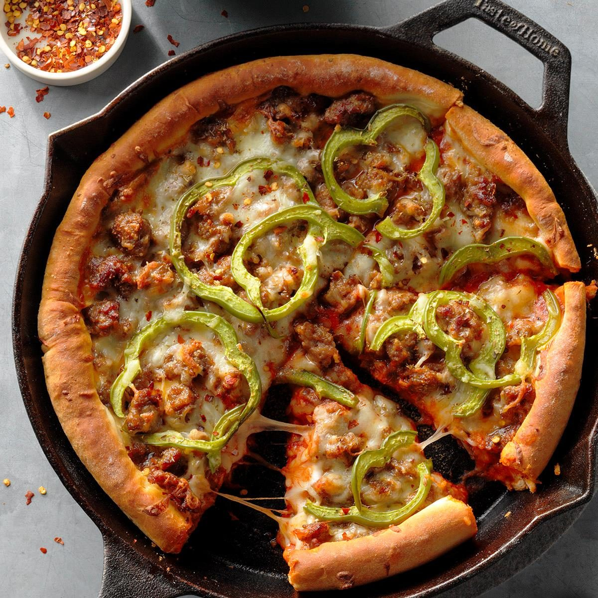 Cast-Iron Sausage Pizza